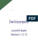Resolução do Capítulo 1 - Brunetti