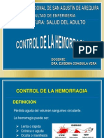 Control de Hemorragia