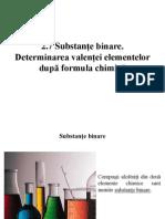 Substanțe binare. Determinarea valenței elementelor după formula chimică