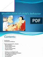 Modification of Child's Behavior