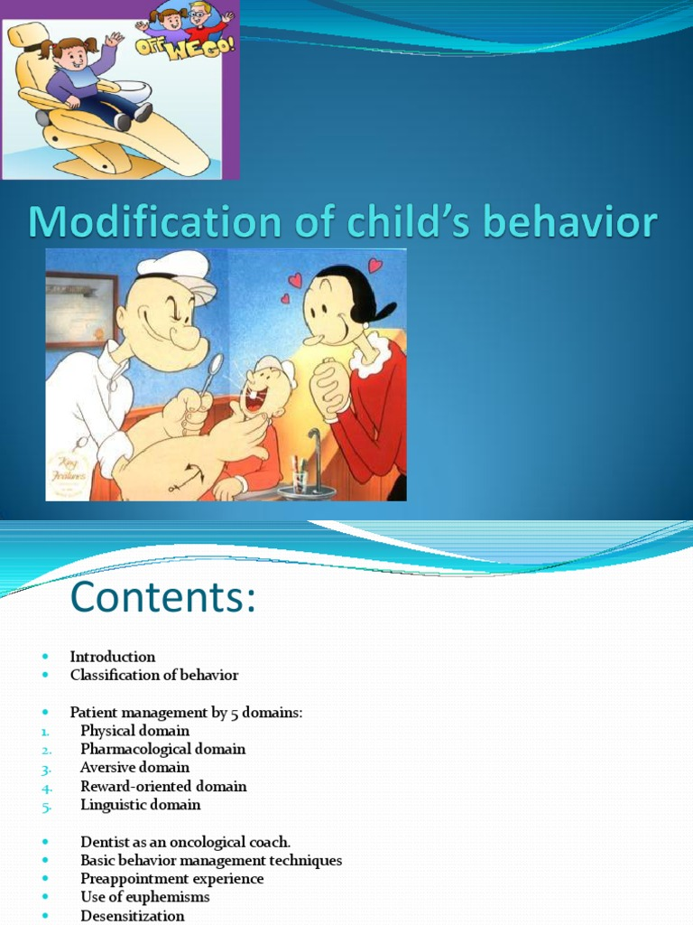 Modification of Child\'s Behavior | Reinforcement | Dentistry