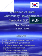 Experience of Rural Community Development
