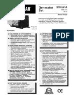 Spec Sheet - 3508 910 kVA Prime