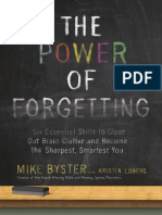 The Power of Forgetting by Mike Byster - Excerpt