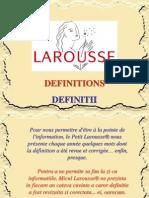 Definitii Larousse