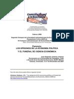 4.- LOS EPÍGONOS DE LA ECONOMÍA POLÍTICA