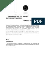 IV Encuentro de Teatro Inter Hospital a Rio