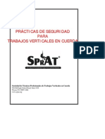 SPRAT Safe Practices for Rope Access Work Spanish