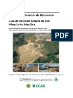 EIA MANUAL DE ESTRUCTURA DE EIA MINERÍA METÁLICA Y NO METÁLICA