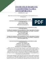 CONCEITO DE FELICIDADE EM SANTO AGOSTINHO NA ERA CONTEMPORÂNEA