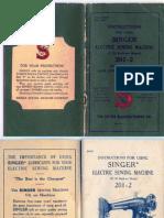 Singer Model 201 Sewing Machine Manual