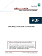 Pipe Wall Thickness Calculation