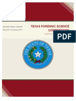 Texas Forensic Science Commission Report Nov 2013
