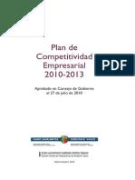 Plan Competitividad 2010 2013