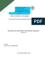 METODOLOGIA CERCET-éRII ACTIVIT-é+óILOR CO RPORALE