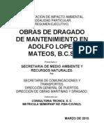 Obras de Dragado en Adolfo Lopez Mateos BCS