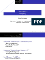 TR Endogeneity