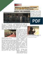 Agregados Militares acreditados en el país visitaron la sede del componente