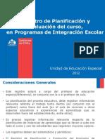Registro de PlanificicaciOn y EvaluaciOn PIE