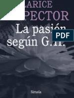 La Pasión según  GH      Clarice Lispector  (fragmento)