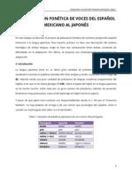 LA ADAPTACIÓN FONÉTICA DE VOCES DEL ESPAÑOL  MEXICANO AL JAPONÉS