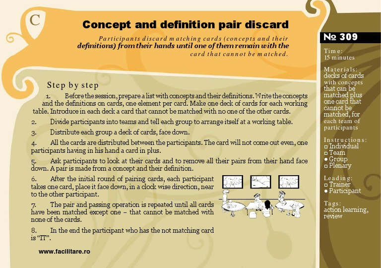 Marvelous 309 Concept And Definition Pair Discard   Training Activity
