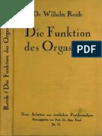 """Reich, Wilhelm 1927 """"Funktion Des Orgasmus"""""""
