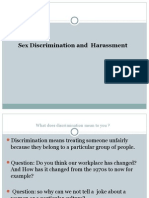 Sex Discrimination & Harassment.