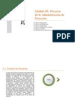 Módulo III. Procesos de la Administración de Proyectos
