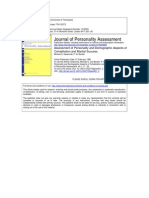Assessment of Personality and Demographic Aspects of Cohabitation and Marital Success