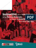 Instructivo para el cumplimiento de las Políticas Nacionales en Materia de Juventud