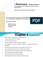 Revision Summary - Science Form 1