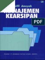 Manajemen Kearsipan Oleh Zulkifli a M Pg78