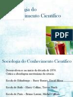 Apresentação Sociologia da Ciencia