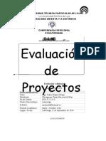 TRABAJO DE EVALUACIÓN DE PROYECTOS