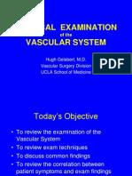 Principles of the Vascular Exam