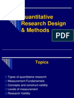 Quantitative Research Design and Methods