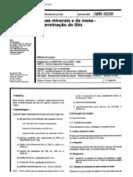 NBR 11266 - Mb 3228 - Aguas Minerais E de Mesa - Determinacao de Litio