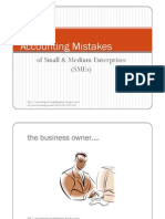 Top Ten Accounting Mistakes