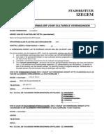 Aansluitingsformulier SRC Verenigingen