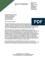 MDOT Letter to VDOT Regarding Potomac River Bridges