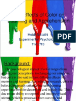 The Effects of Color on Learning and Apprehension-StatsLab