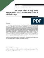 Javier Auyero - Vidas e política das pessoas pobres