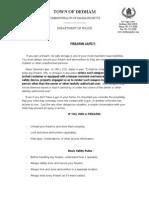 Firearms Press Release