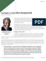 Erdogan's Arab Allies Disappointed - Al Arabiya News