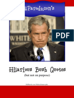 Political Humor - Hilarious Bush Quotes