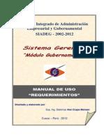 Manual Gerencial - Gubernamental - Requerimiento
