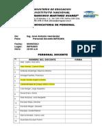 Nomina Del Personal Del Inframs 2013