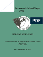 (Cadenillas )Libro de Resumenes - Simposio Peruano de Murcielagos 2012
