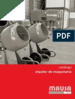 Catalogo Alquiler de Maquinaria